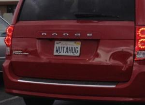 Hug License Plate