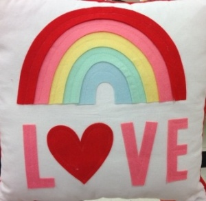 Love Rainbow Pillow